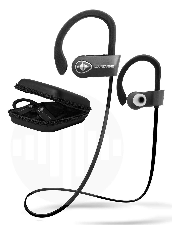 2b79eba8699 Wireless Bluetooth Running Headphones – SoundWhiz Noise Cancelling  Waterproof Workout Earbuds – w Mic & Siri